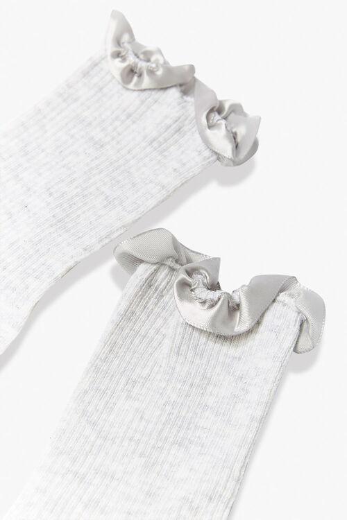 GREY Ruffle-Trim Crew Socks, image 2