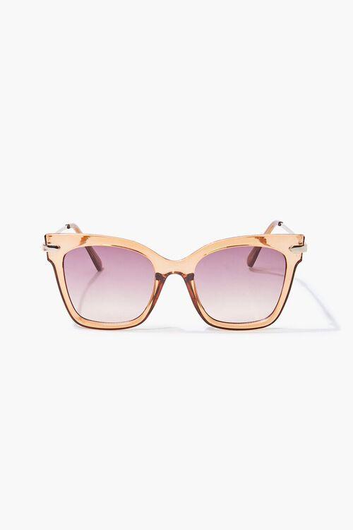 Semi-Transparent Ombre Square Sunglasses, image 2