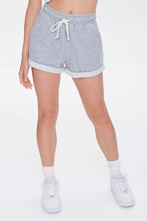 Heathered Drawstring Shorts, image 2