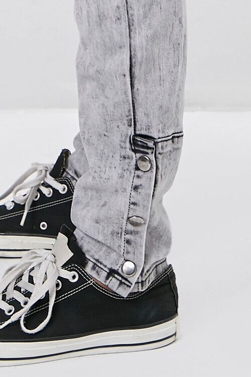 Distressed Snap-Button Jeans, image 5