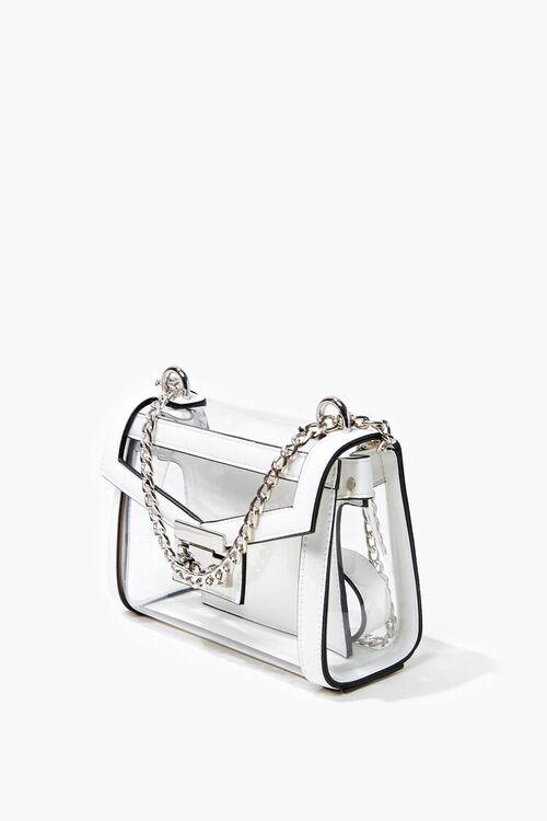 CLEAR Transparent Opaque-Trim Crossbody Bag, image 2
