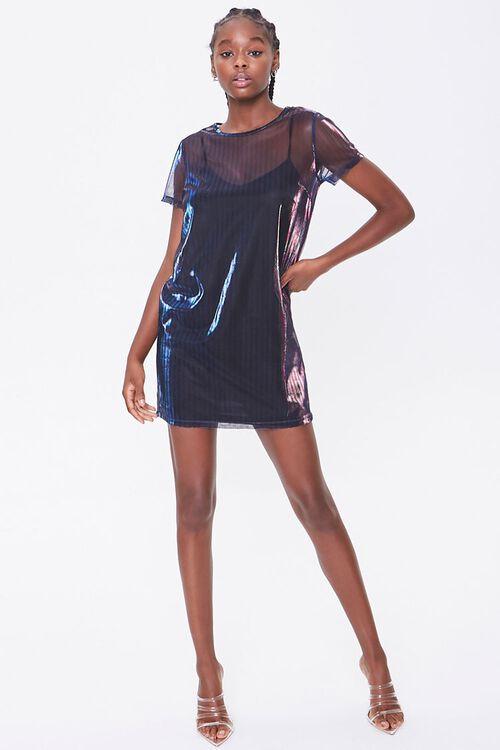 Metallic T-Shirt Dress, image 4