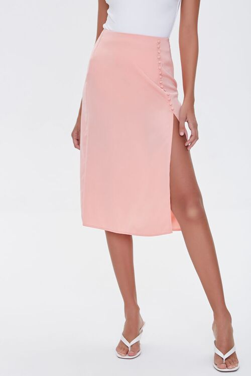 Button-Front Slit Skirt, image 2