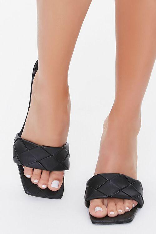 Crosshatch Square-Toe Stiletto Heels, image 4