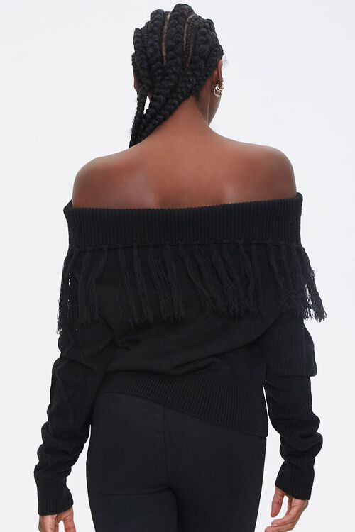 Tassel Off-the-Shoulder Sweater, image 3