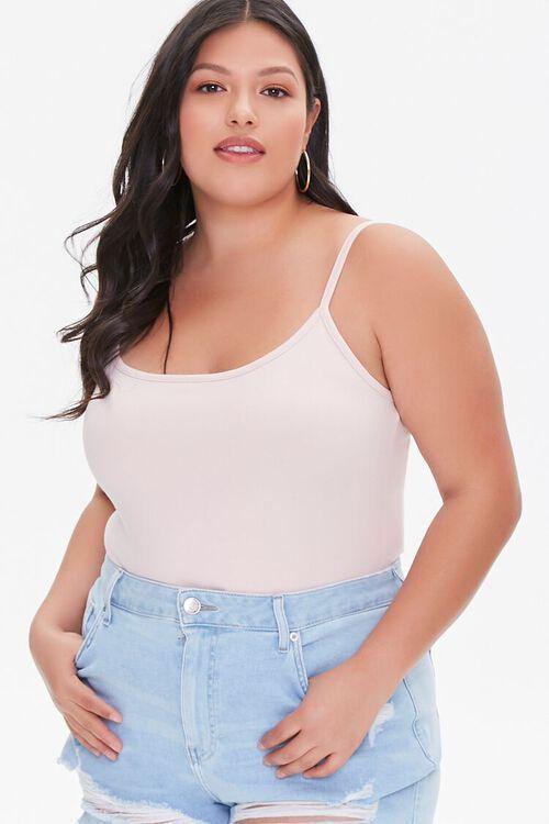 Plus Size Basic Cami Bodysuit, image 1