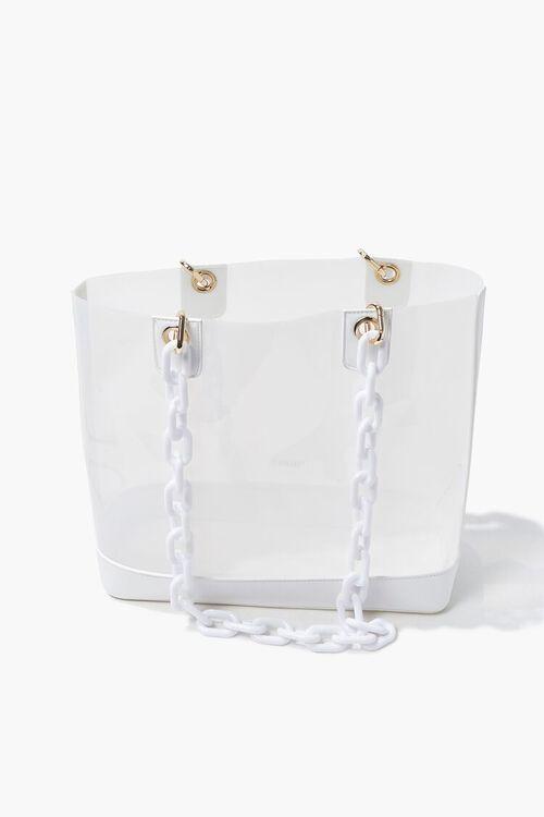 Transparent Chain-Strap Tote Bag, image 3