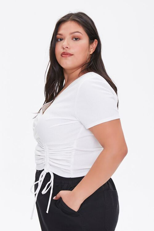 Plus Size Ruched Crop Top, image 2