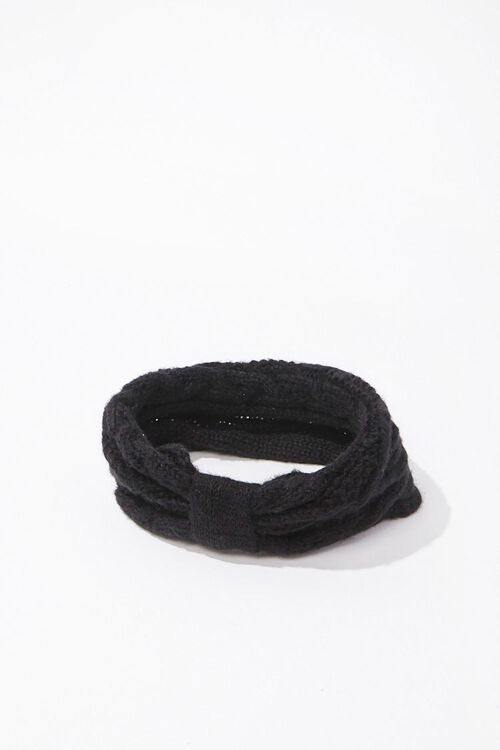Cable-Knit Bow Headwrap, image 2