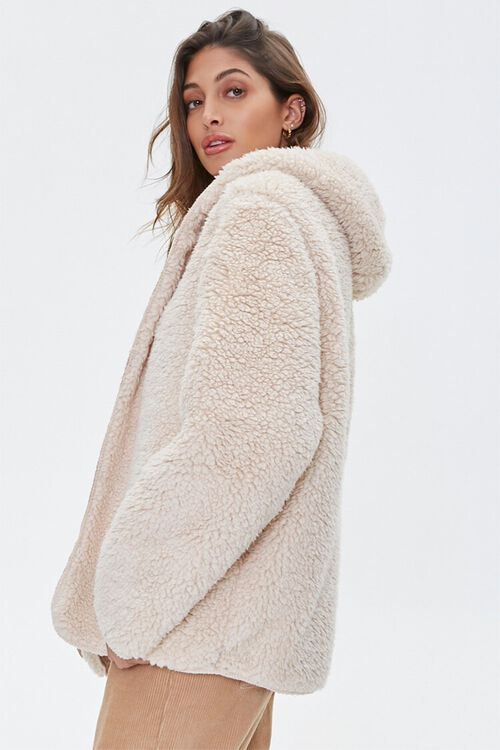 Reversible Faux Fur Hooded Coat, image 2