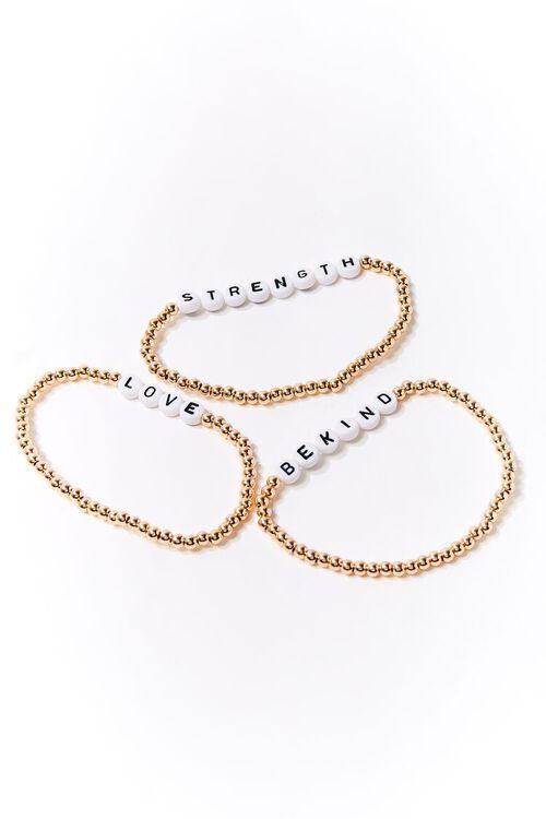 Beaded Text Charm Bracelet Set, image 2