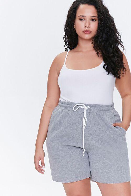 Plus Size Fleece Sweatshorts, image 1