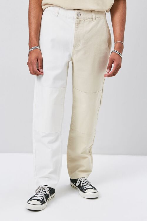 Colorblock Canvas Pants, image 2
