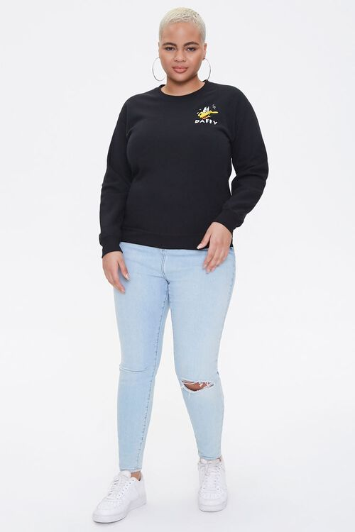 Plus Size Daffy Duck Graphic Pullover, image 4