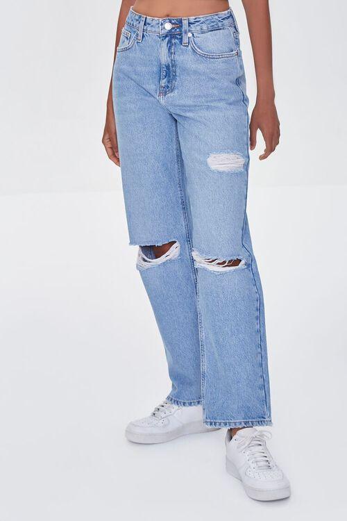 LIGHT DENIM Premium Distressed 90s-Fit Jeans, image 2