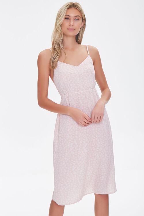 Leaf Print Tie-Back Dress, image 1