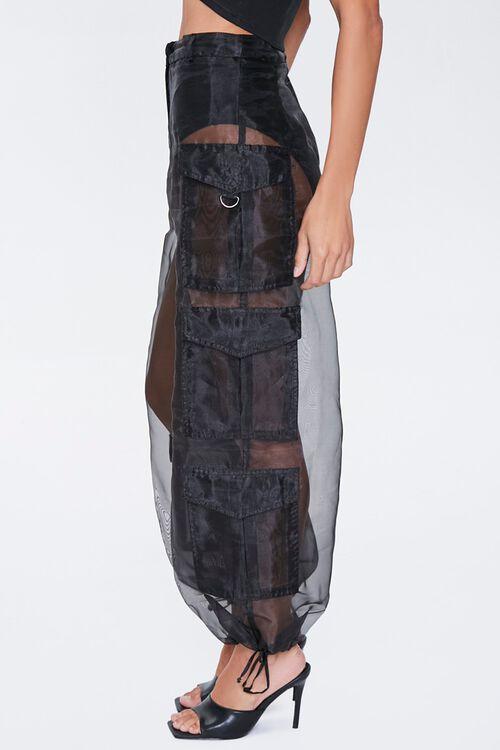 Sheer Organza Cargo Pants, image 3