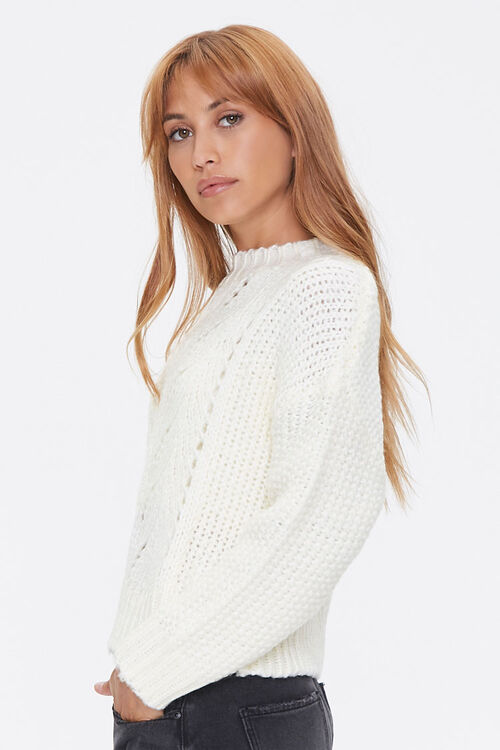 Pointelle Knit Sweater, image 2