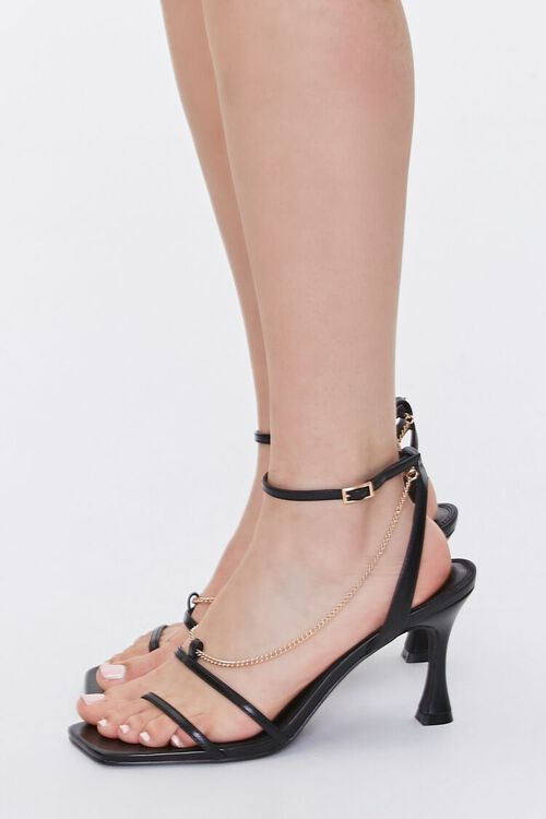 Chain Accent-Strap Heels, image 2