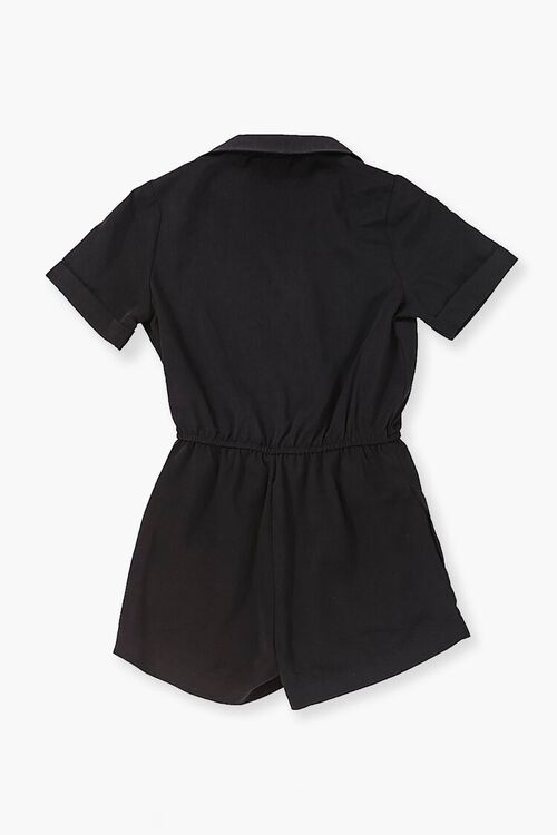 Buttoned Collared Romper, image 2