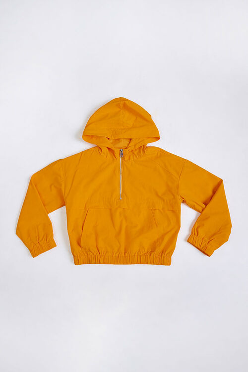 Girls Hooded Zip-Up Anorak (Kids), image 1