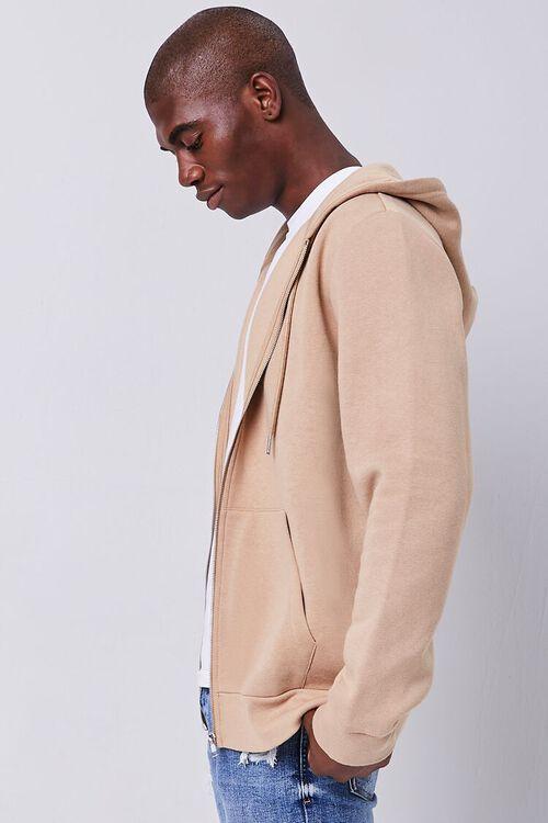 TAUPE Fleece Zip-Up Hoodie, image 2