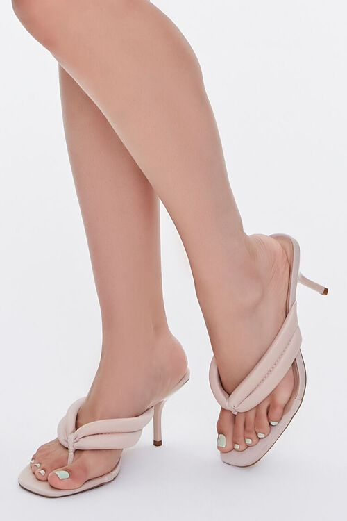 Quilted Thong-Toe Heels, image 1