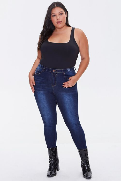 Plus Size Square-Neck Bodysuit, image 4