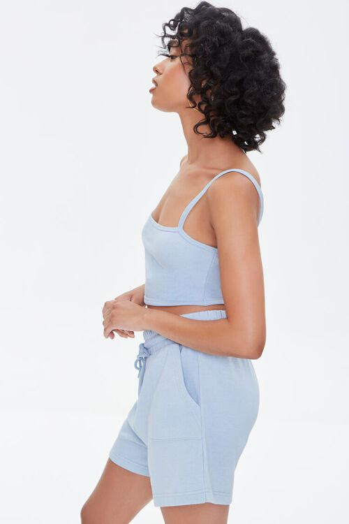 Cropped Cami & French Terry Shorts Set, image 2