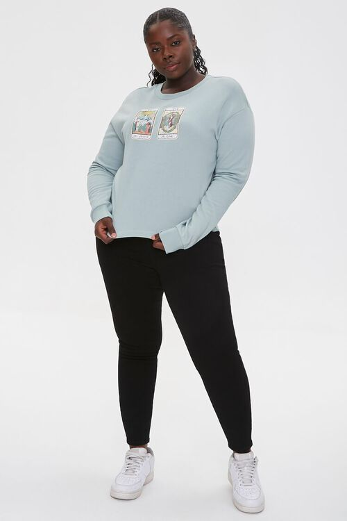 Plus Size Tarot Graphic Pullover, image 4