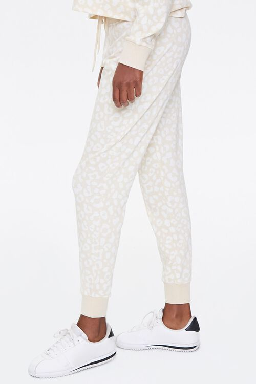 French Terry Leopard Joggers, image 3