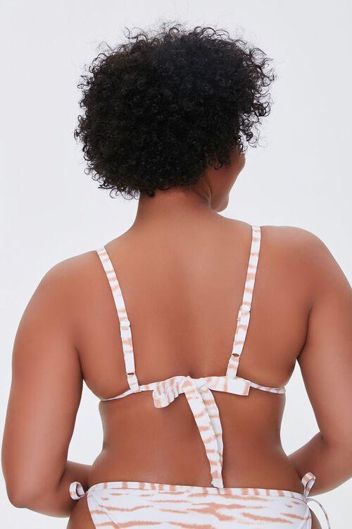 Plus Size Tiger Print Triangle Bikini Top, image 3
