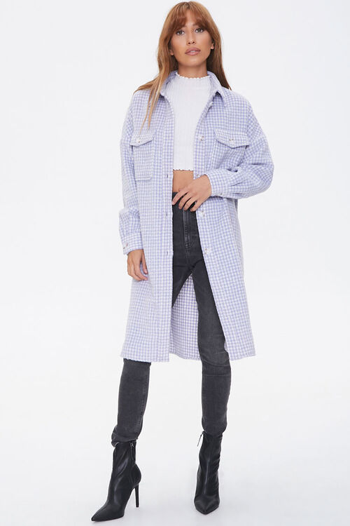 Brushed Houndstooth Longline Coat, image 4