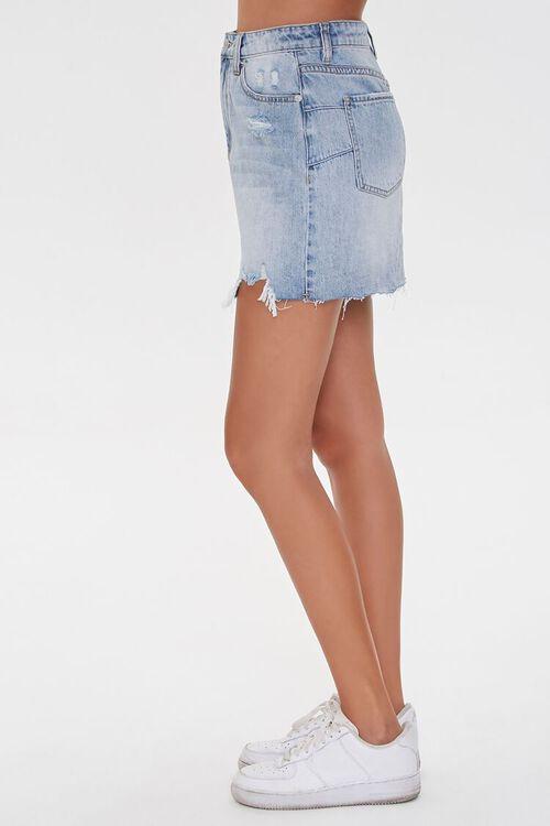 Distressed Denim Mini Skirt, image 3