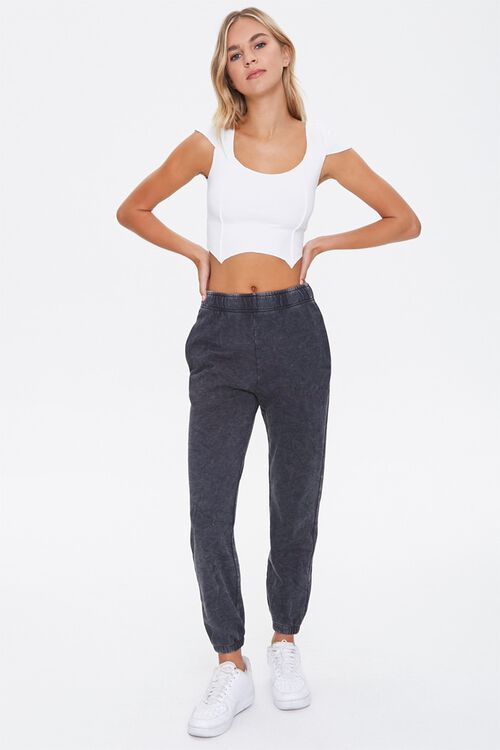 French Terry Mineral Wash Joggers, image 5