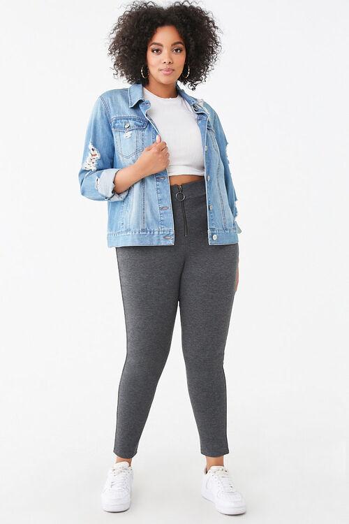 Plus Size Zip-Front Leggings, image 5