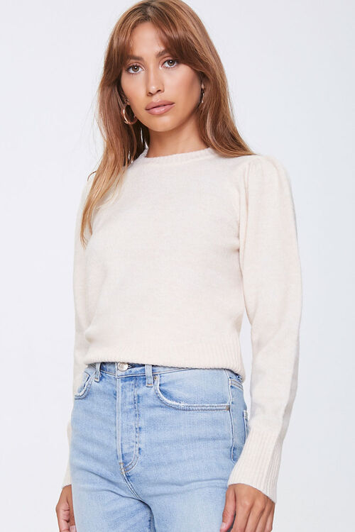 Ribbed-Trim Sweater, image 1