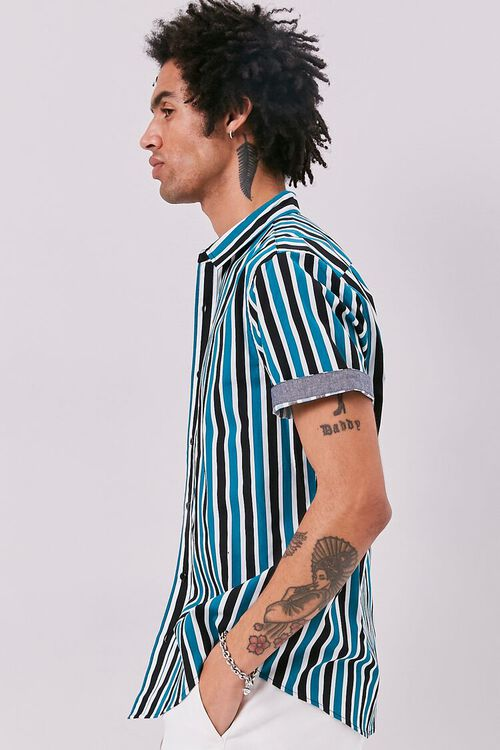 Striped Print Fitted Shirt, image 2