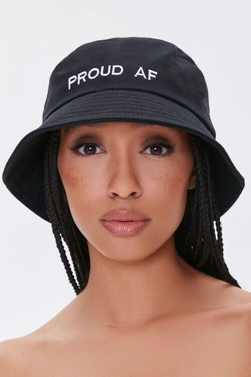 Proud Embroidered Graphic Bucket Hat, image 1