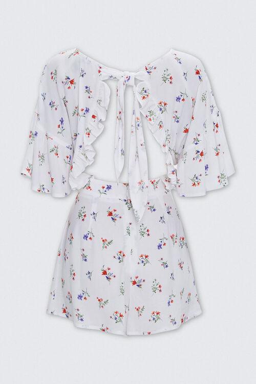 Floral Print Tie-Back Romper, image 2