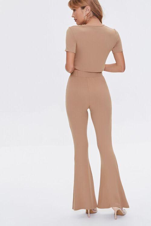 Crop Top & Flare Pants Set, image 3