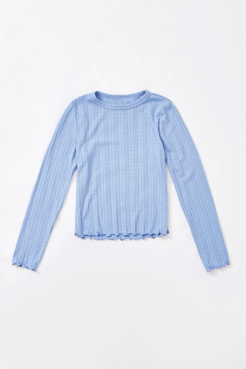 Girls Ribbed Top (Kids), image 1