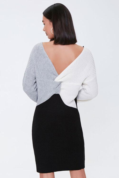 Colorblock Twist-Front Dress, image 3