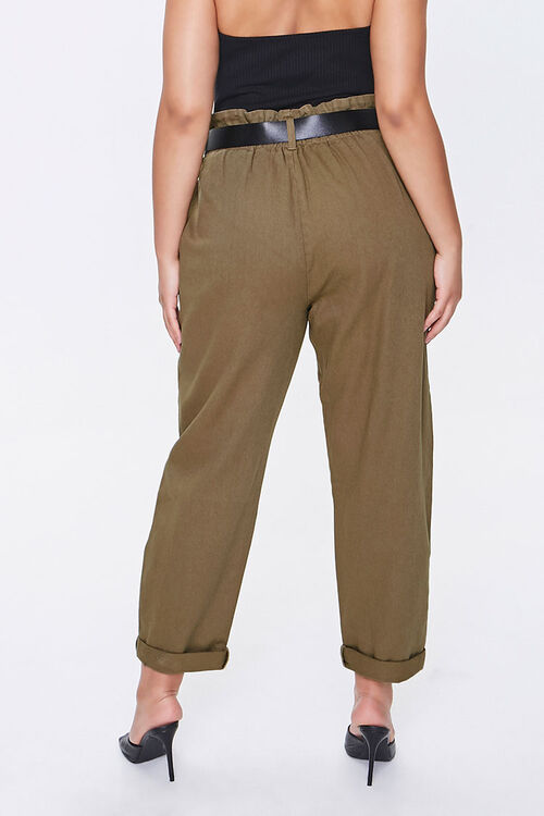 Plus Size Paperbag Ankle Pants, image 4