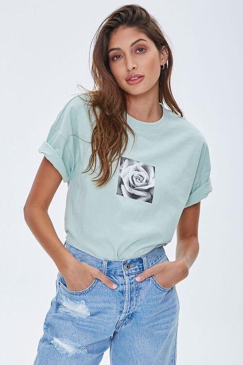 Rose Petals Graphic Tee, image 1