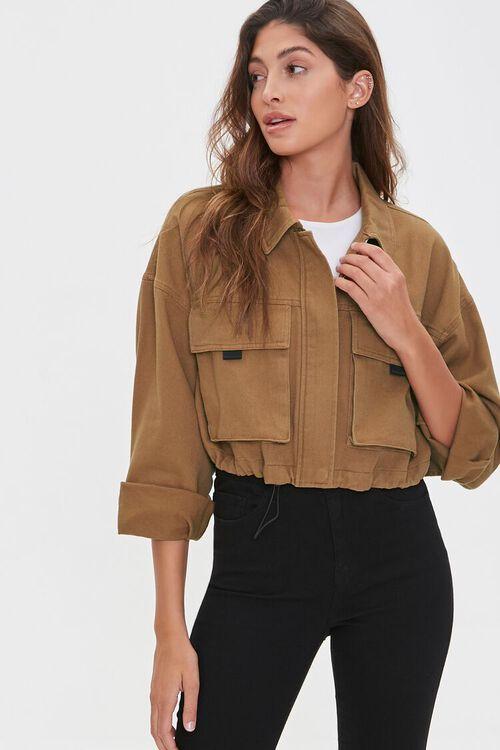 Drawstring Zip-Up Jacket, image 1