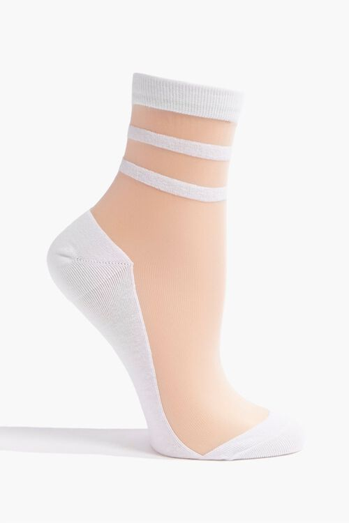 Sheer Mesh Crew Socks, image 1
