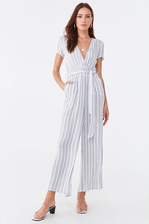 Striped Surplice Jumpsuit, image 4