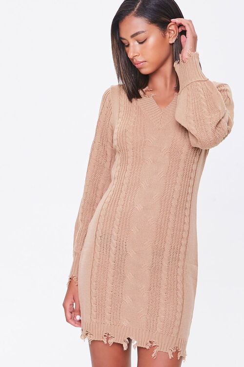 Cable Knit Sweater Dress, image 1