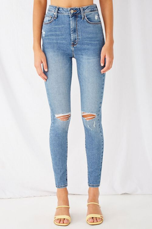Super Skinny Distressed Jeans, image 2